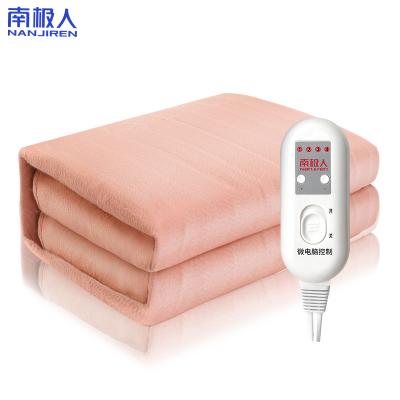 南極人(Nanjiren)電熱毯(1.5*0.8米)無紡布加大智能控溫自動斷電電熱墊 學生宿舍家用安全防水暖咖