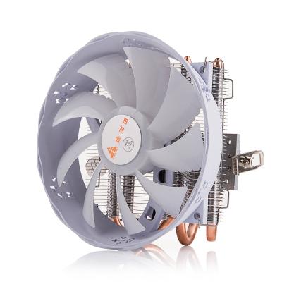 金河田Z200臺式機電腦風冷CPU散熱器風扇 白色款(多平臺/下吹式風冷/12cm風扇/4根熱管/led藍光)