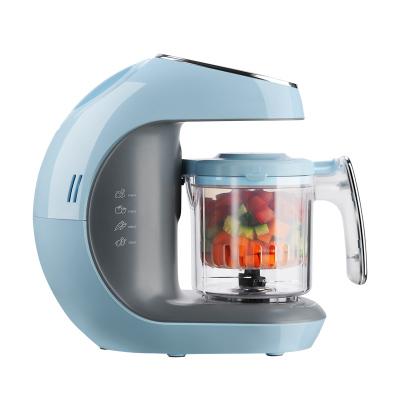 海爾(Haier )家用多功能嬰兒輔食機 嬰兒輔食料理機 電動食物研磨器料理機 蒸煮攪拌一體機HBB-I0201(藍色)