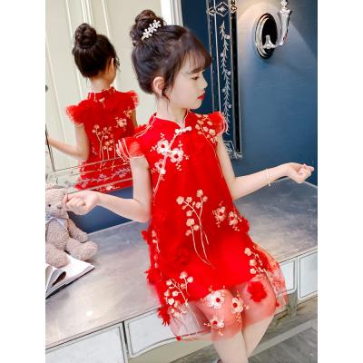 【精品好貨】女童連衣裙2020新款夏裝兒童旗袍夏季裙子洋氣女孩中國風公主漢服