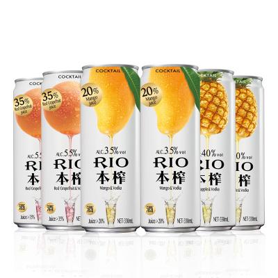銳澳(RIO)洋酒 雞尾酒 預調酒 本榨系列組合 330ml*6罐(3種口味)