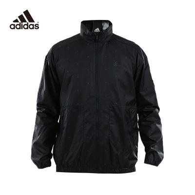 阿迪達斯(adidas)秋季男士EI WB GEN AOP防風梭織連帽運動夾克 DM5247