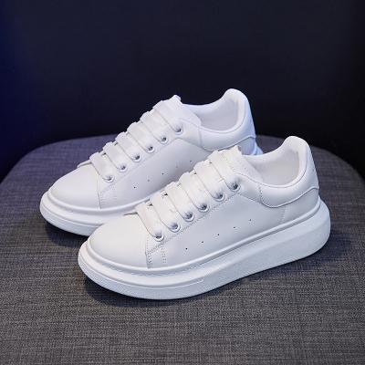 思可圖(SIKETU) 2020秋季增高女士休閑鞋 女舒適百搭軟底透氣運動低幫小白板鞋