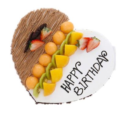 全國生日蛋糕同城配送 8寸心形水果蛋糕 蘇州上海南京安徽蛋糕店配送
