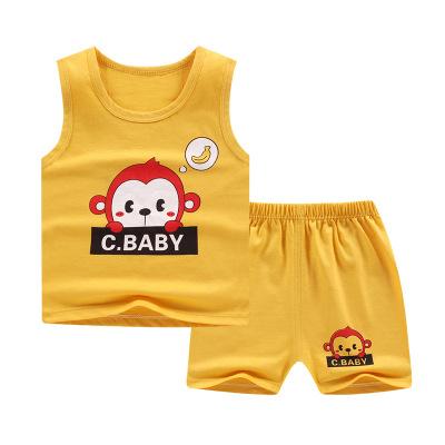 兒童背心套裝純棉女童夏裝韓版童裝新款2020夏季男童兩件套
