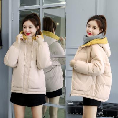 企妍棉衣女裝2020新款韓版網紅款寬松bf學生ins棉面包服外套女
