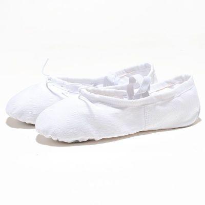 新款成人儿童舞蹈鞋女童男软底系带练功鞋瑜伽芭蕾舞鞋帆布小孩猫爪鞋 衫伊格(shanyige)