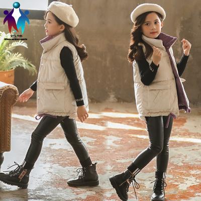【厂家直营】女童马夹棉马甲秋冬款外穿大童小孩儿童洋气保暖冬季背心韩版加厚