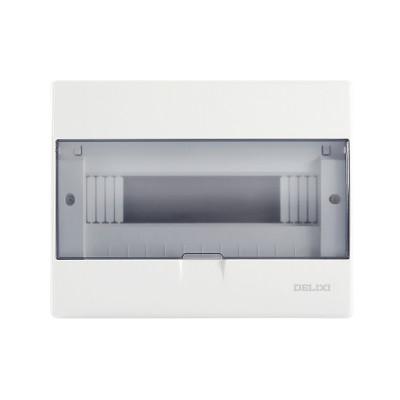 【官方旗艦店】德力西雅白強電箱家用配電箱12回路空氣開關金屬暗裝布線箱盒安全 家裝輔材