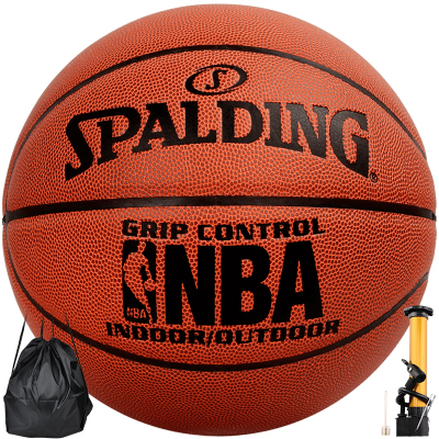 Spalding 斯伯丁篮球比赛标准7号室内外兼用蓝球PU材质 74-221\604Y掌控比赛