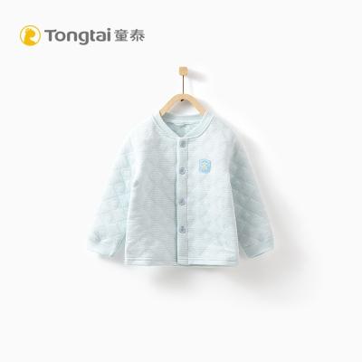 童泰TONGTAI秋冬婴儿加厚立领上衣1-3岁宝宝对开保暖内衣