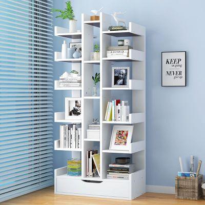 简易书柜书架简约现代落地置物架组装学生用创意小组合柜家用