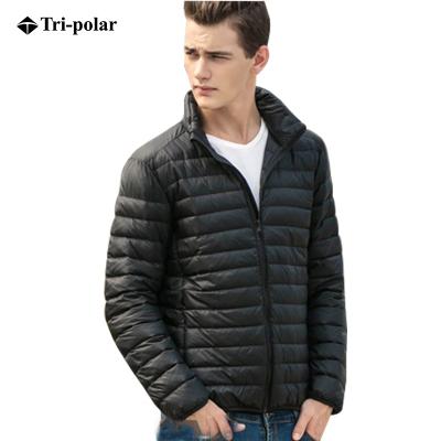 三极户外(Tripolar) TP9069 羽绒服男士秋冬立领轻薄羽绒长袖短款加胖加大休闲运动外套