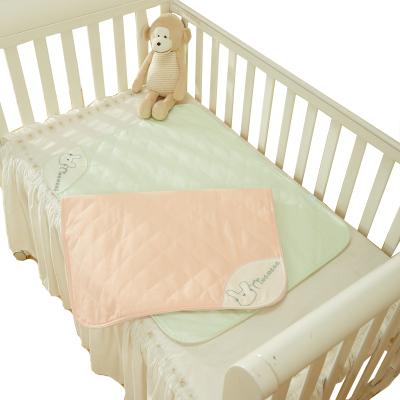 良良 婴儿隔尿垫2条装防水可洗尿布春秋冬季初生儿透气大号麻棉质尿垫60*81cm