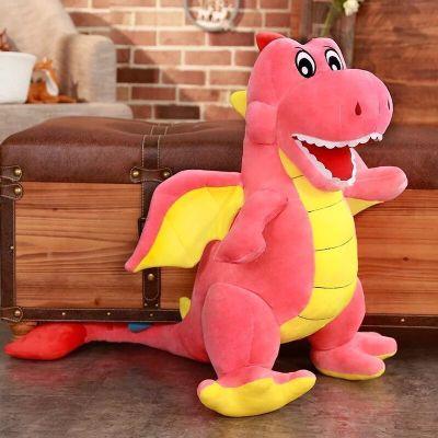 【品牌特賣】 可愛翼龍公仔毛絨玩具大號卡通恐龍抱枕布娃娃兒童生 粉色翼龍 60厘米兒童禮物