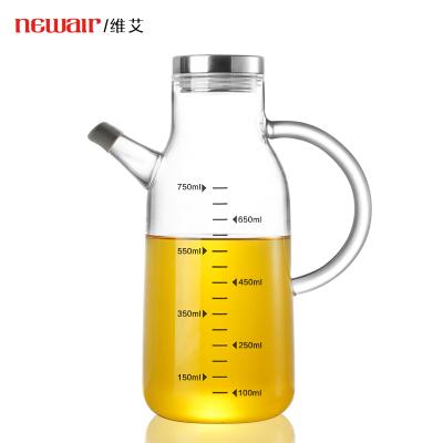 玻璃油壺防漏油瓶家用廚房裝油瓶醬油醋調料瓶子大號小號歐式油罐-550ml不銹鋼蓋(贈硅膠底座+嘴套)