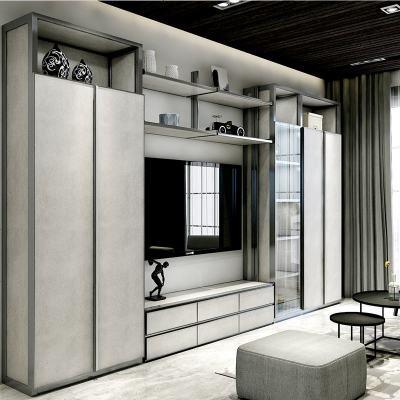 顾致拉迷小户型屋定制客厅整墙满墙电视柜衣柜组合沙发背景墙收纳柜