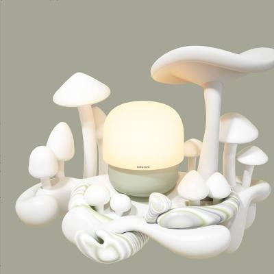 babycare蘑菇灯便携渐亮灯卧室无极调光起夜灯充电婴儿喂奶小夜灯 里瑟米