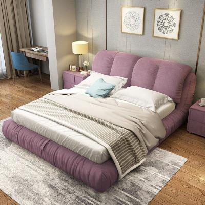 布藝床可拆洗婚床雙人床1.8北歐軟床簡約現代主臥軟包床1米5布床