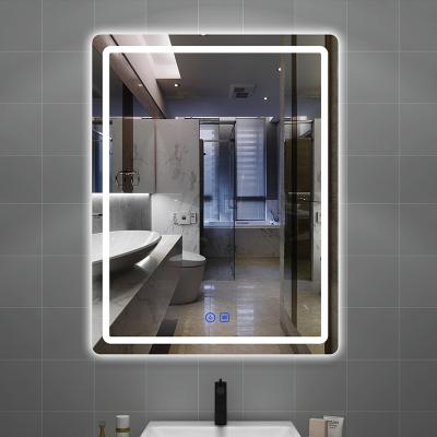 衛生間浴室鏡子掛墻洗手間閃電客led帶燈防霧智能鏡子觸摸屏廁所發光鏡