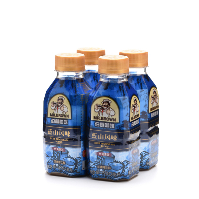 MR.BROWN伯朗咖啡藍山風味濃咖啡飲料330ML*4