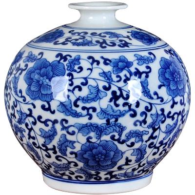 每日精进(enhancement)复古创意青花陶瓷花瓶摆件小号家居装饰客厅酒柜怀旧餐厅台面插花