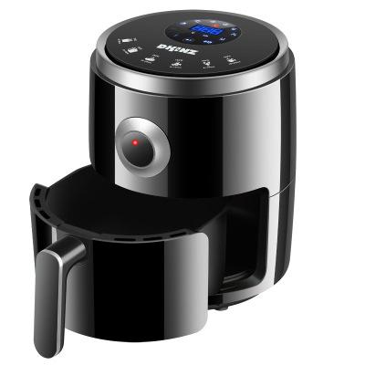2020新品韓國DKINZ空氣炸鍋多功能無油電炸鍋3L容量PC-8062D家用薯條機液晶智能新款-黑色