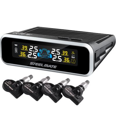 鐵將軍胎壓監測 內置 無線輪胎監測器汽車胎安全檢測器太陽能供電E3 胎壓胎溫警示多功能