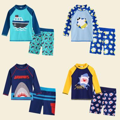 兒童泳衣男童泳褲分體長袖防曬速干韓國中大童男孩小寶寶可愛泳裝