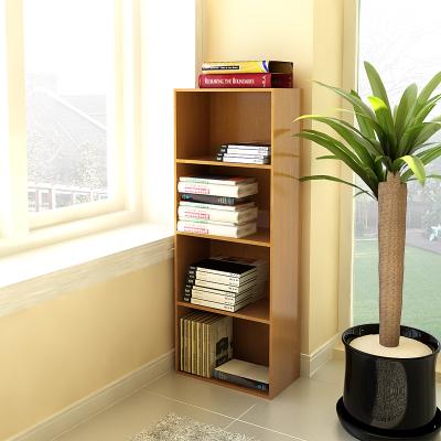 慧樂家 書柜書架 魯比克四層組合書櫥柜子 自由組合儲物陳列柜 深紅櫻桃木色 FNAL-11053
