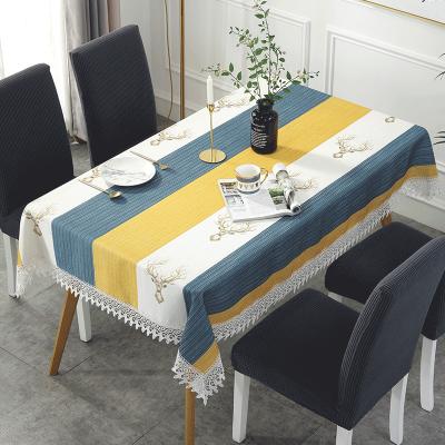 北欧布艺桌布茶几桌布美式家用棉麻餐桌布小清新桌垫台布椅套套装弧威