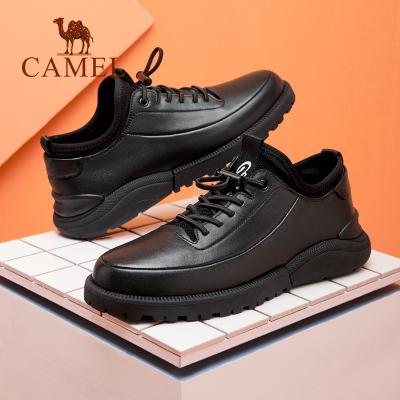 CAMEL骆驼男鞋2019夏季新款休闲鞋男运动百搭板鞋真皮鞋子男潮鞋小白鞋