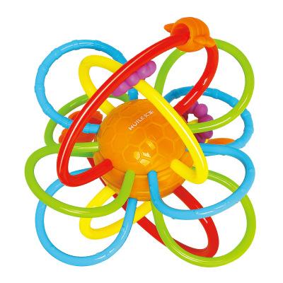 匯樂玩具(HUILE TOYS)蜂巢牙膠球 619B 牙膠哈頓球搖鈴抓握玩具嬰兒寶寶手抓球磨牙