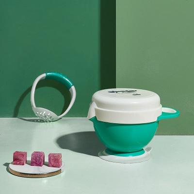 babycare 婴儿研磨碗辅食工具宝宝辅食碗研磨器棒儿童餐具套装克里斯绿