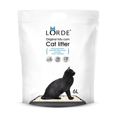 LORDE豆腐猫砂 2.6kg/6L装 快速结团无粉尘 除臭可冲厕所
