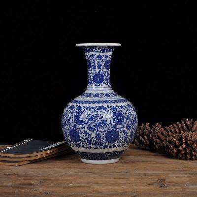 古笙記 景諾 景德鎮陶瓷器 青花瓷花瓶 現代家飾擺件 家居裝飾品