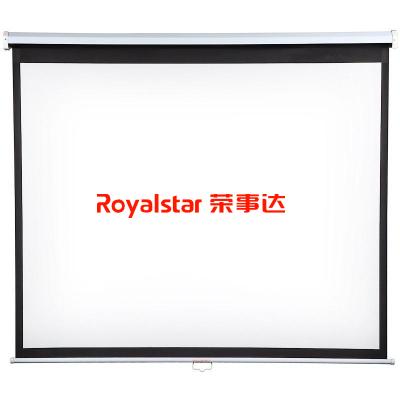 榮事達 專業投影 投影機配件 手拉自鎖幕布100寸 16:9 寬屏幕比168度可視角度 耐用平整 靜音
