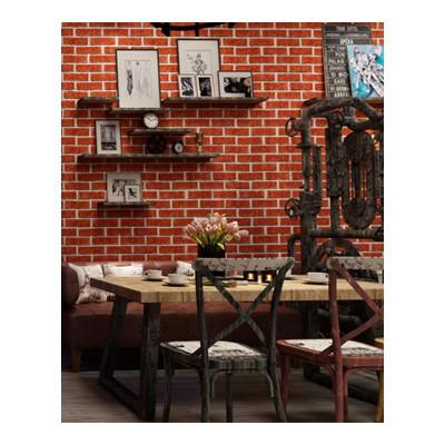 汐巖中式復古磚紋紅磚青磚仿古磚頭自粘墻紙3d立體磚塊防水pvc墻壁紙