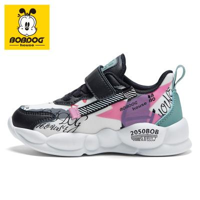 BOBDOG house 巴布豆童鞋2019秋季新款儿童运动鞋男童女童韩版中大童潮鞋