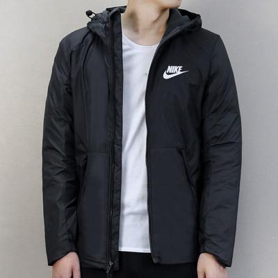 Nike耐克棉服羽絨服男子上衣2019冬季新款運動服休閑服防風保暖連帽外套男裝夾克861789-010