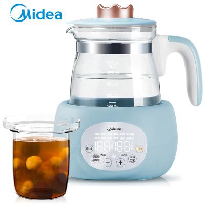 美的(Midea)恒溫調奶器多功能玻璃水壺電熱水壺沖泡奶粉器暖奶消毒帶燉盅MI-MYTP301