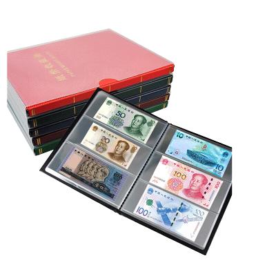 昊藏天下 紙幣收藏冊紀念鈔紙幣收藏空冊 3行20頁透明單冊