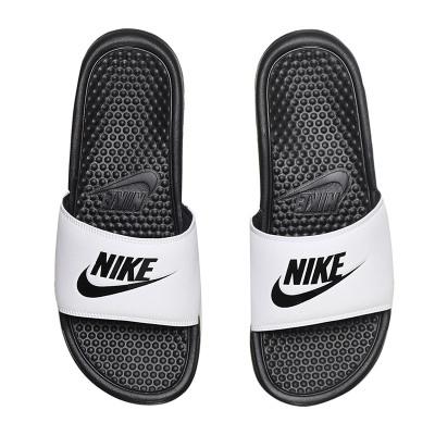 NIKE耐克男拖鞋夏款奧利奧配色輕便涼鞋沙灘鞋343880 343880-100白+黑+黑 40碼