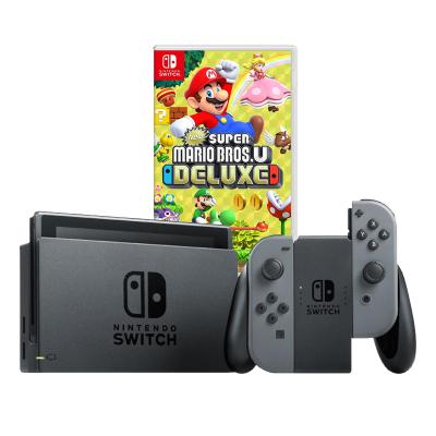 【游戲套餐】任天堂 Nintendo Switch 國行續航加強版灰色主機 & 游戲兌換卡 新 超級馬力歐兄弟U 豪華