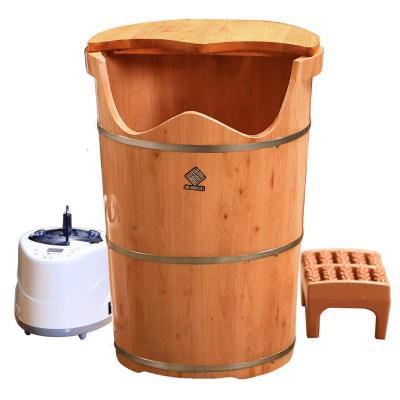 泡腳木桶帶蓋恒溫足浴盆加熱熏蒸泡腳桶蒸汽加高女洗腳桶家用