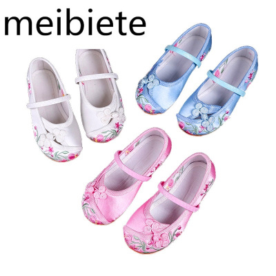 新款女童繡鞋民族風兒童布鞋傳統布鞋童鞋公主寶寶漢服鞋