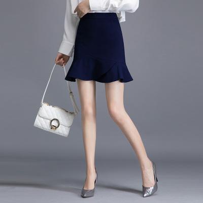 絲柏舍2019秋季女簡約純色不規則短款包臀半身裙S91R0130B