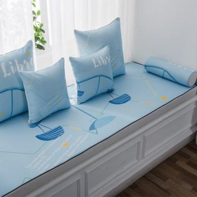 家柏飾(CORATED)北歐高密度乳膠飄窗墊窗臺墊定做榻榻米陽臺海綿墊沙發毯坐墊 天秤座 可選乳膠材質,報價聯系客服