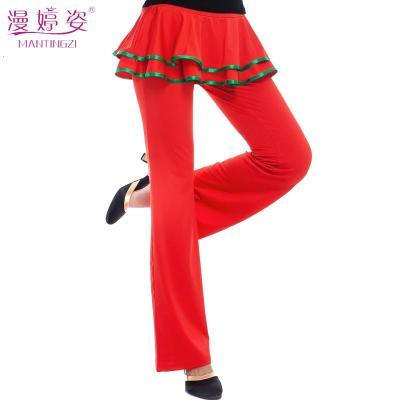 广场舞服装新款裙裤长裤子春夏季跳舞蹈的舞裤裙牛奶丝女成人练功