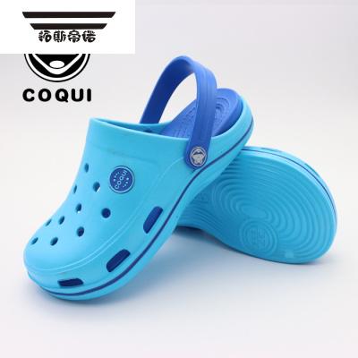 夏季儿童鞋包头男童洞洞鞋镂空沙滩鞋卡通拖鞋透气防滑凉鞋子